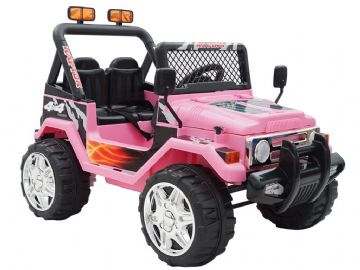 4x4 Style Jeep 12v Ride On Electric Toy Car Twin Seat With Parental Control Pink